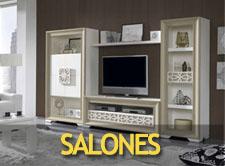 Camas grandes elegantes for Salones completos baratos