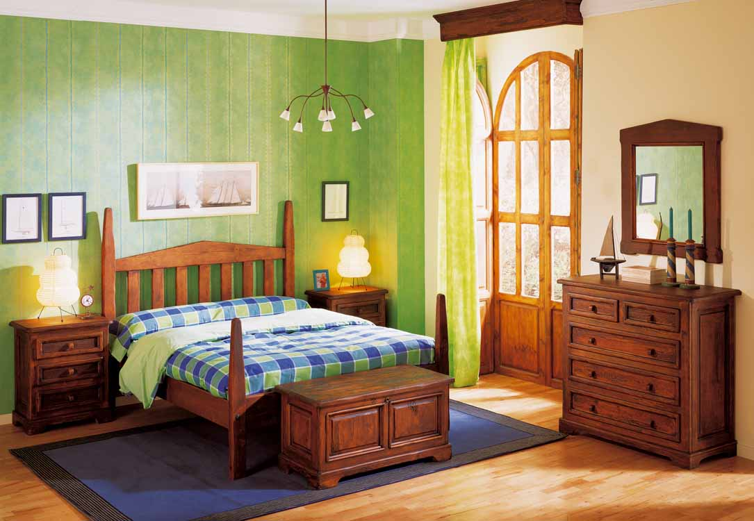 Habitaciones r sticas color pino for Decoracion de habitaciones de matrimonio rusticas