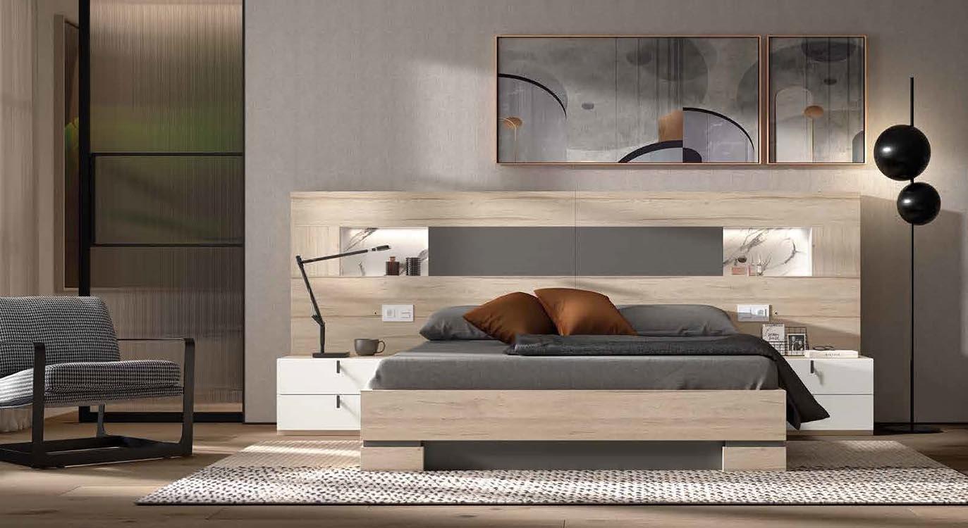 http://www.munozmuebles.net/nueva/catalogo/dormitorios-actuales.html -  Fotografía con muebles de color rosa chicle