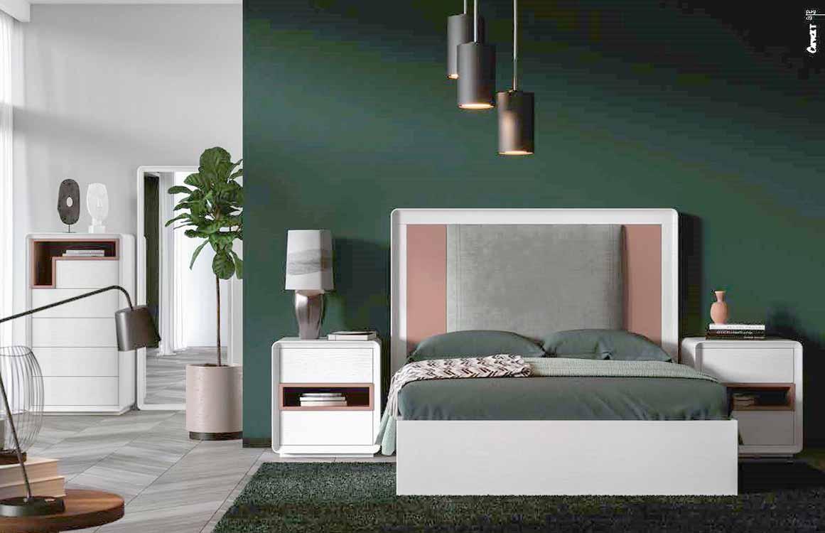 Dormitorios de matrimonio modernos for Muebles zapateros juveniles