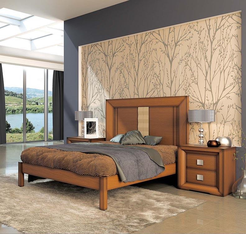 Dormitorio de madera - Dormitorio malva ...