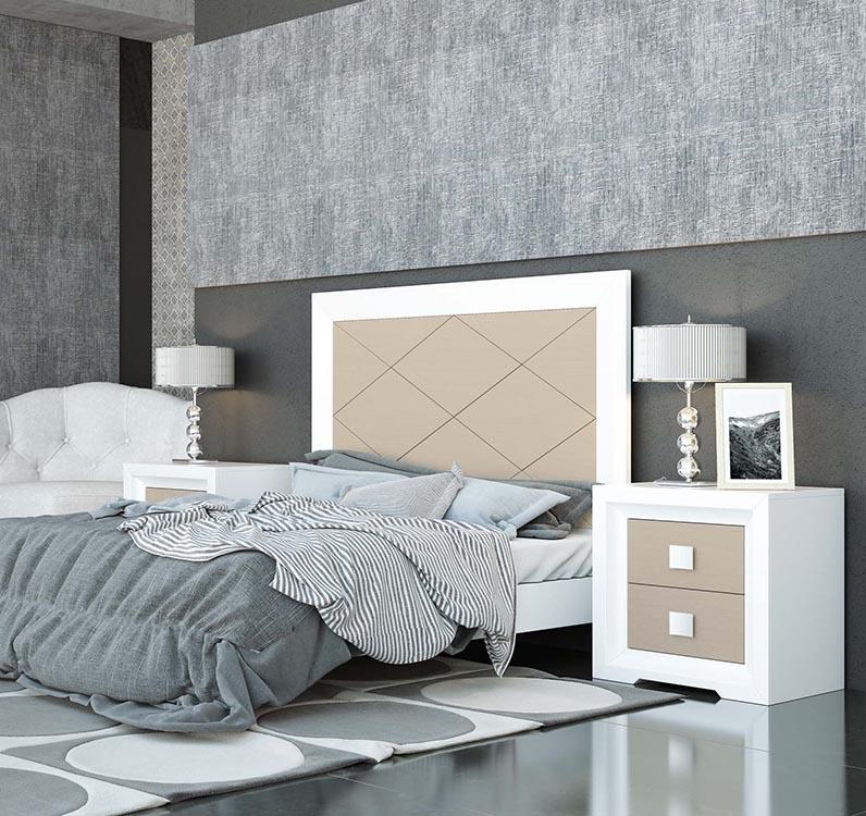 http://www.munozmuebles.net/nueva/catalogo/dormitorios-clasicos.html - Muebles de  melamina pintados