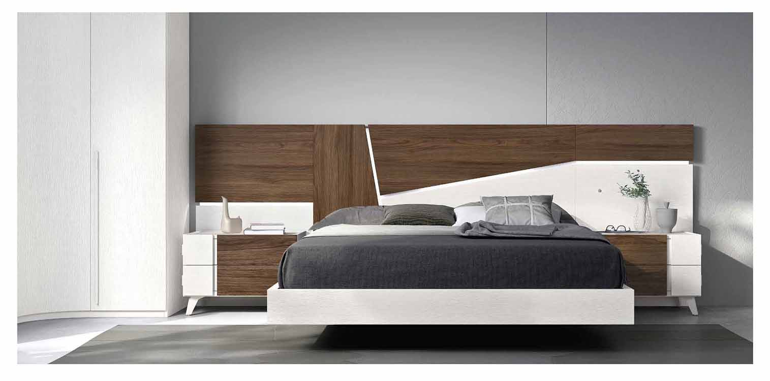 Camas grandes grises for Dormitorios juveniles modernos precios