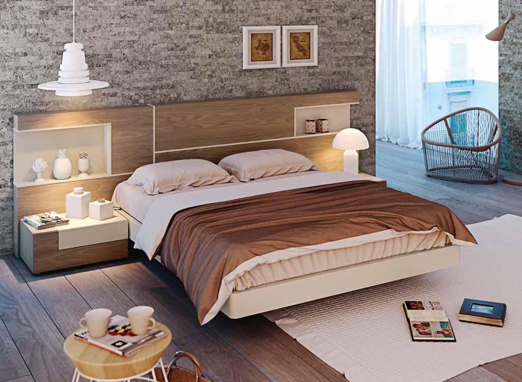 Descuentos en camas de matrimonio for Muebles dormitorio modernos