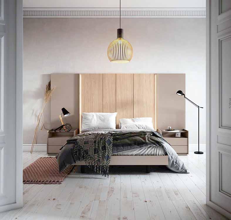 http://www.munozmuebles.net/nueva/catalogo/dormitorios-actuales.html -  Fotografía con muebles en tonos neutros en Navalcarnero