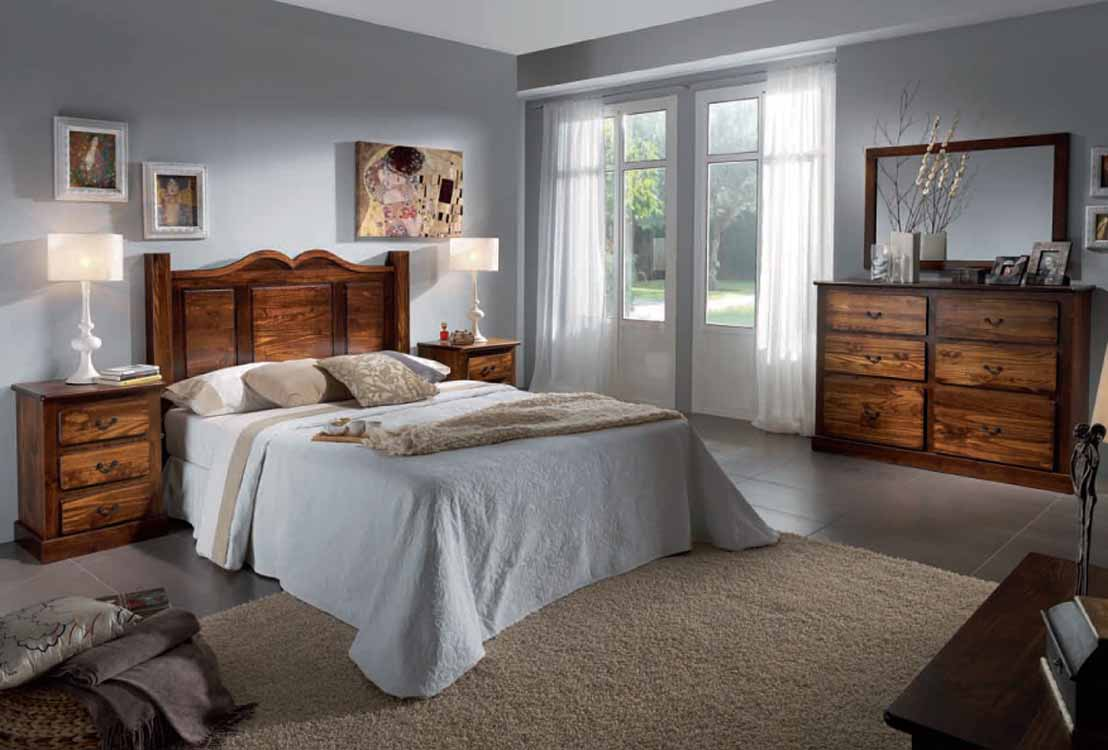 Dormitorios de matrimonio en madera maciza for Catalogo de habitaciones de matrimonio