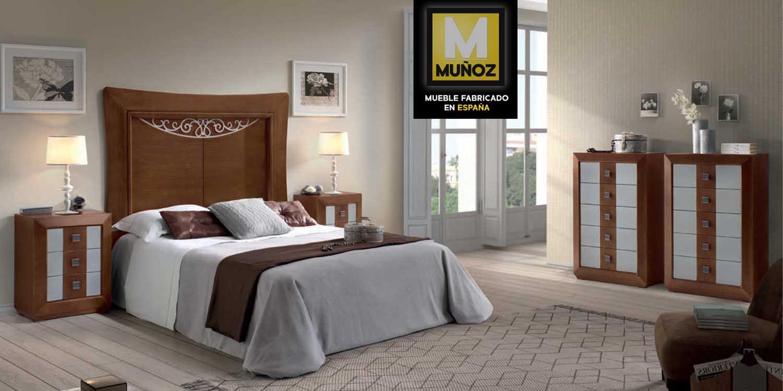 http://www.munozmuebles.net/nueva/catalogo/dormitorios-clasicos.html - Fotografía  de muebles de color claro en Toledo