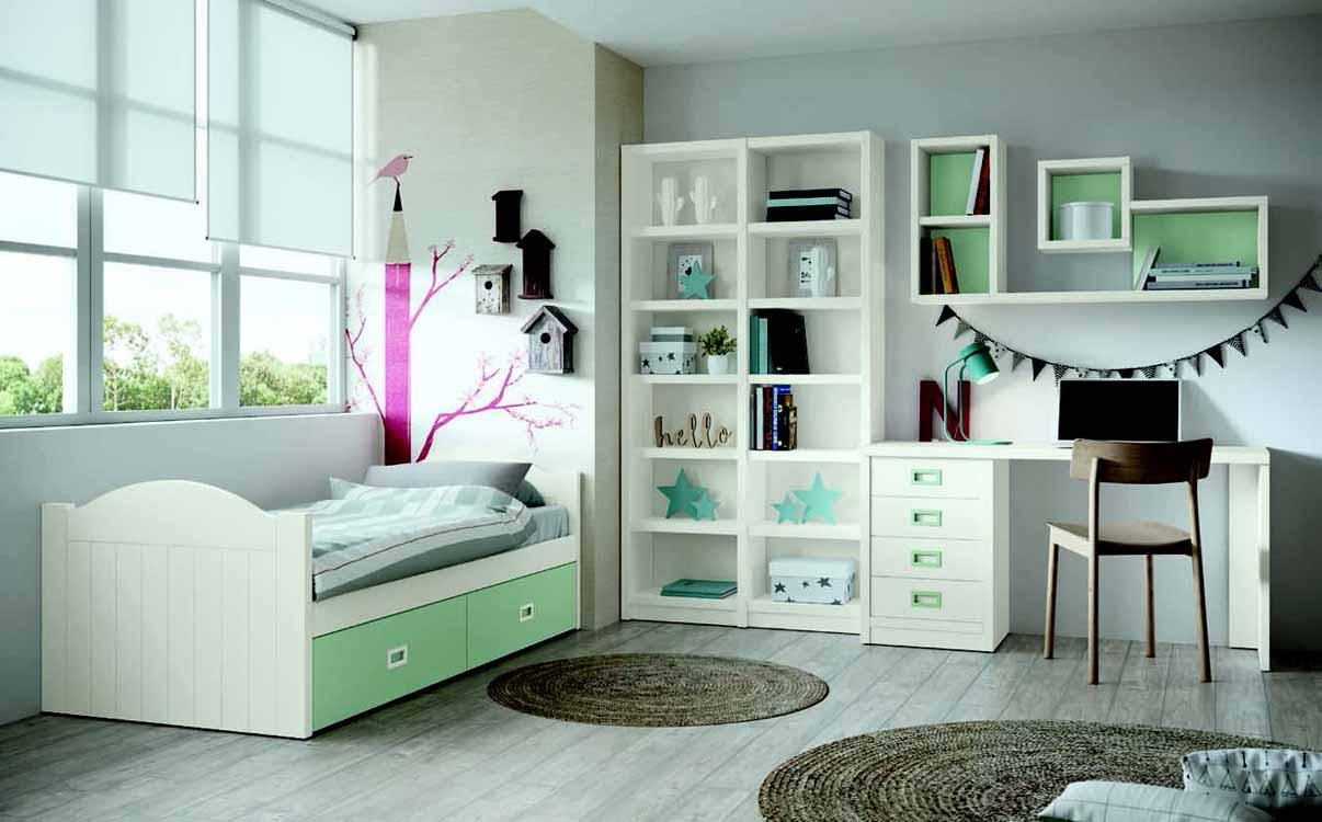http://www.munozmuebles.net/nueva/catalogo/juveniles-macizos.html - Fotografía  con muebles de color marrón