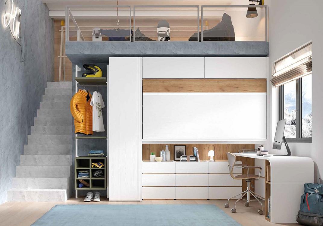 Conjuntos de dormitorios individuales para ni os - Dormitorios modulares juveniles ...