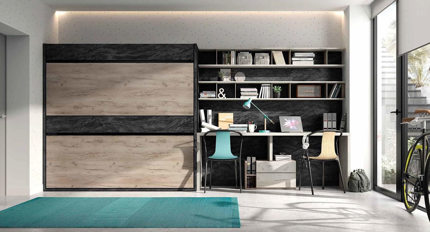 http://www.munozmuebles.net/nueva/catalogo/juveniles-modulares.html - Fotos con  muebles negros en carretera de extremadura