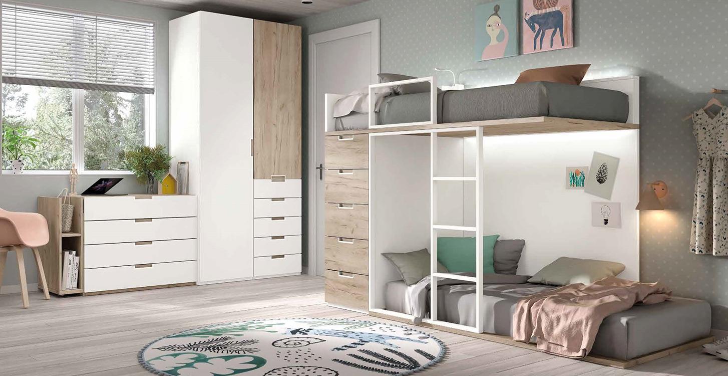 http://www.munozmuebles.net/nueva/catalogo/juveniles-modulares.html - Conjuntos  de muebles de madera de acebo