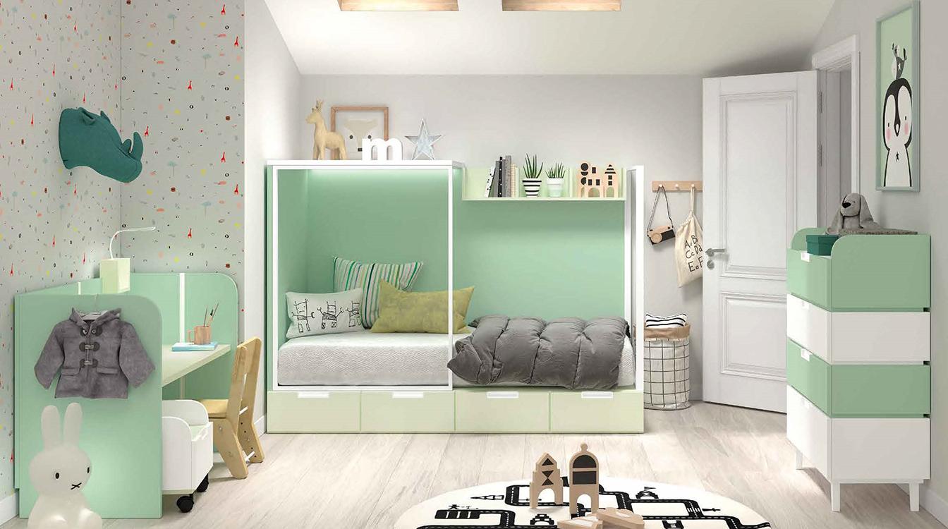 http://www.munozmuebles.net/nueva/catalogo/juveniles-modulares.html - Liquidación  de muebles de color vainilla