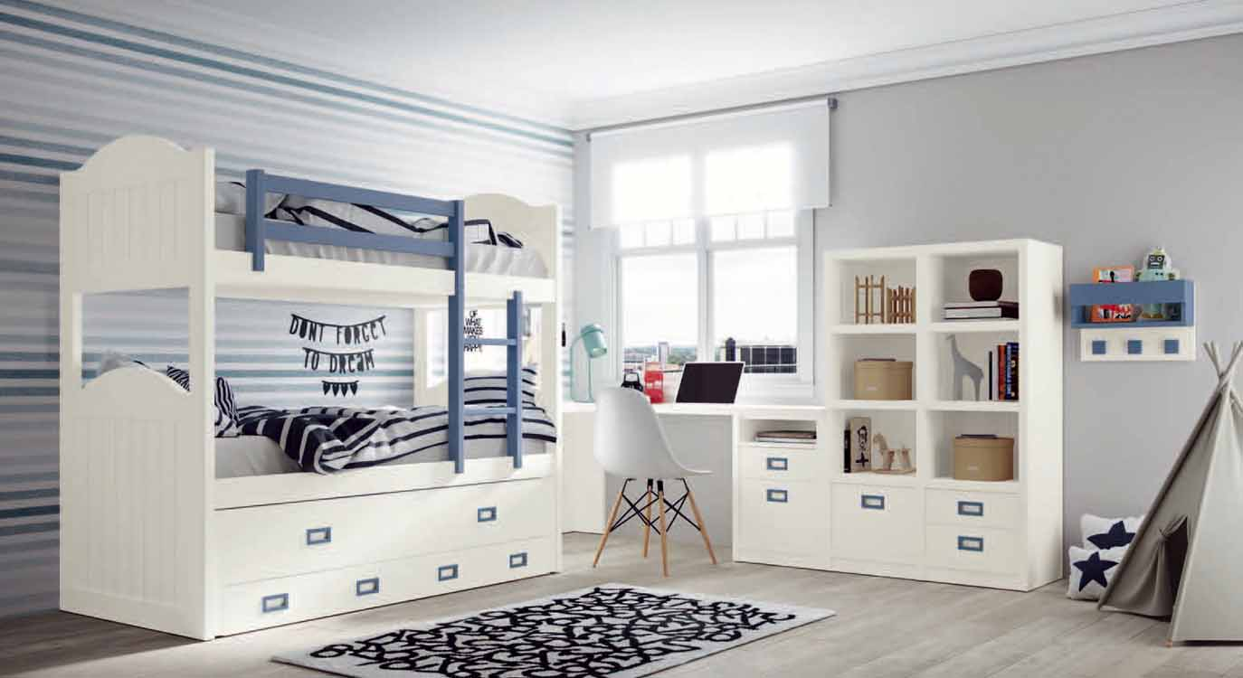 http://www.munozmuebles.net/nueva/catalogo/juveniles-macizos.html - Foto de  muebles de color vainilla