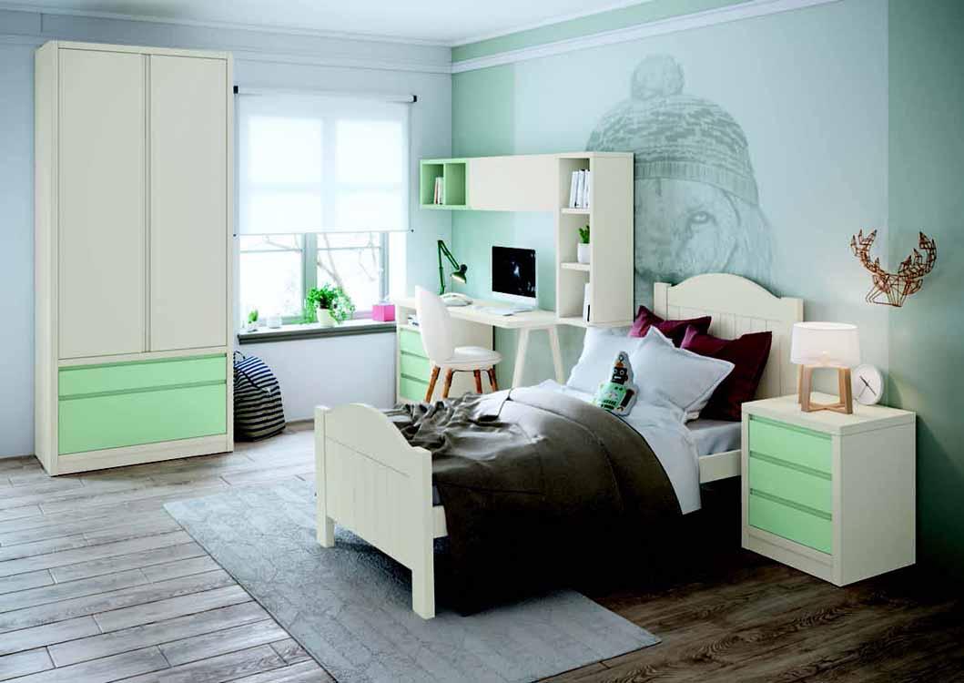 http://www.munozmuebles.net/nueva/catalogo/juveniles-macizos.html - Fotografía  con muebles de color rosa chicle
