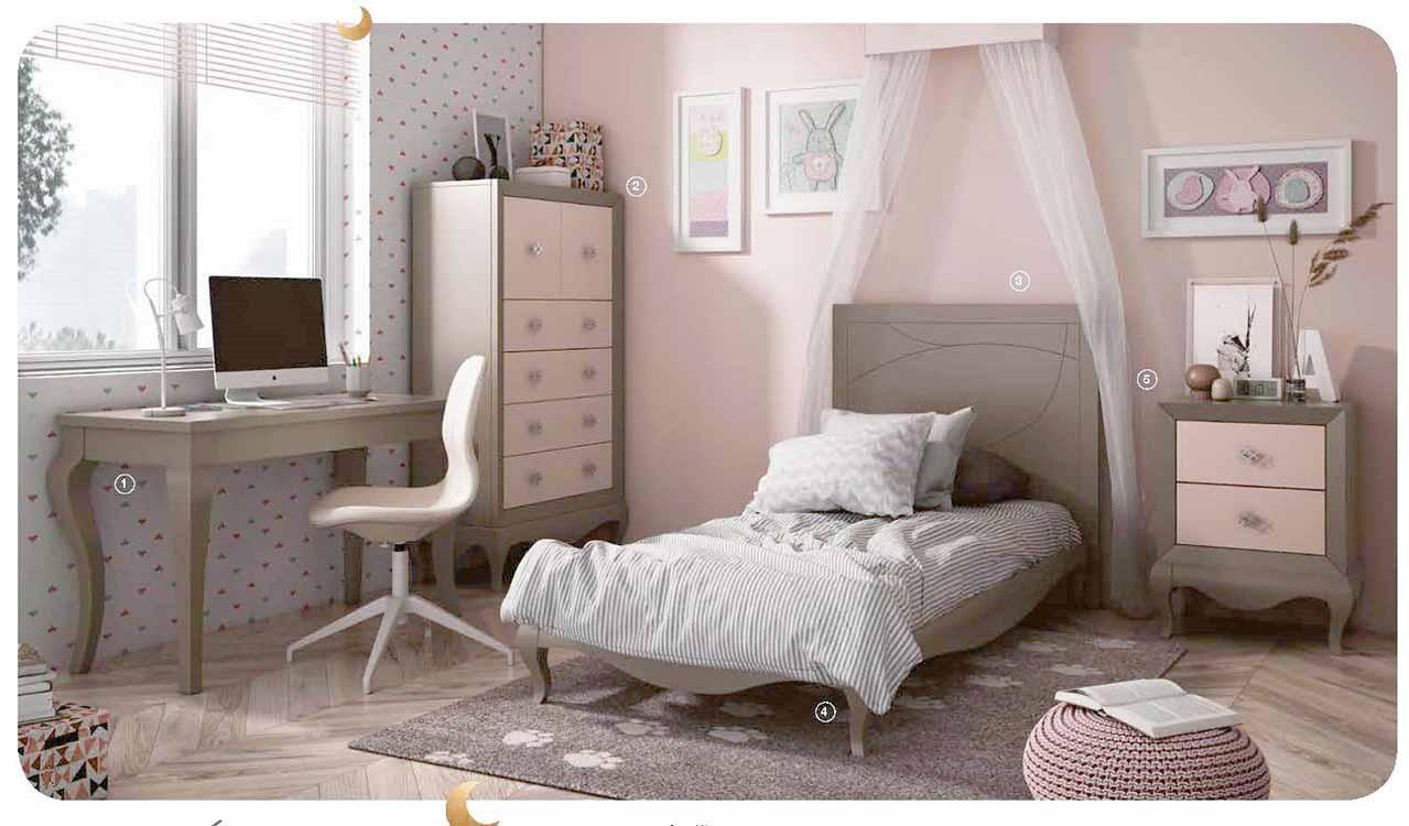 Dormitorios para ni os en madera maciza for Dormitorios individuales