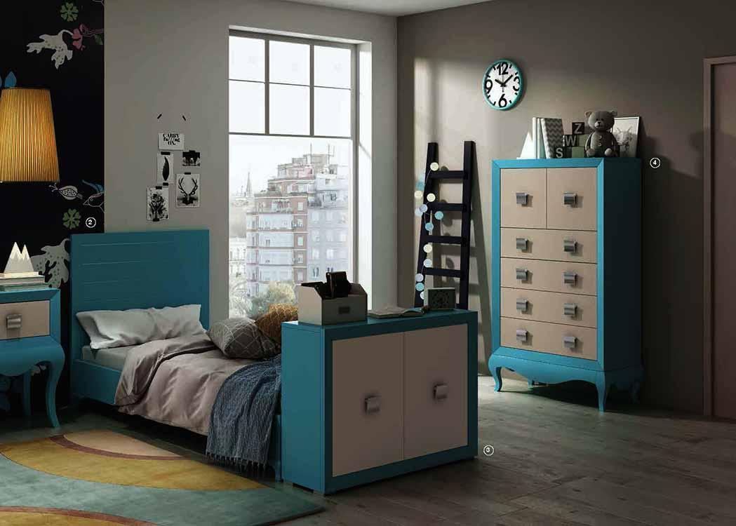 Camas abatibles color haya for Catalogo de habitaciones juveniles