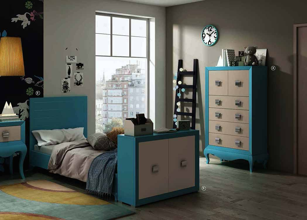 Camas abatibles color haya for Muebles modulares juveniles