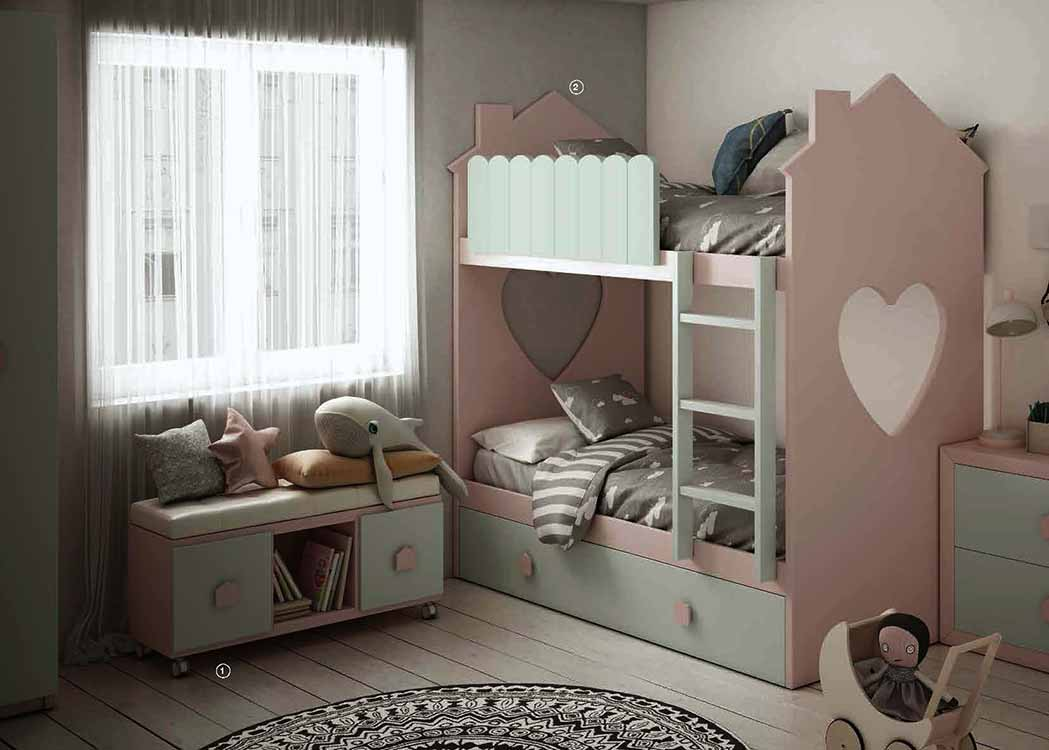 Tocadores blancos for Dormitorios juveniles modernos precios