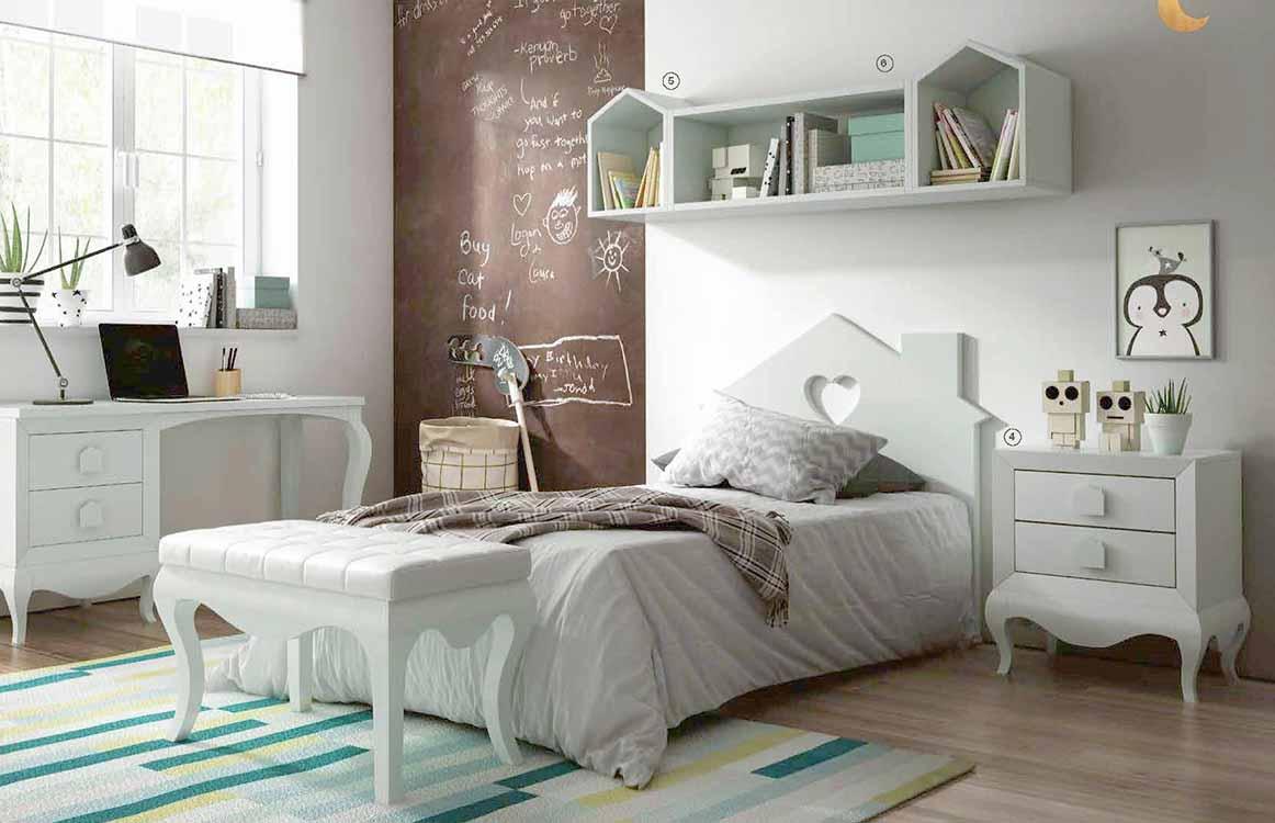 http://www.munozmuebles.net/nueva/catalogo/juveniles-modulares.html -  Composiciones de muebles de color blanco viejo