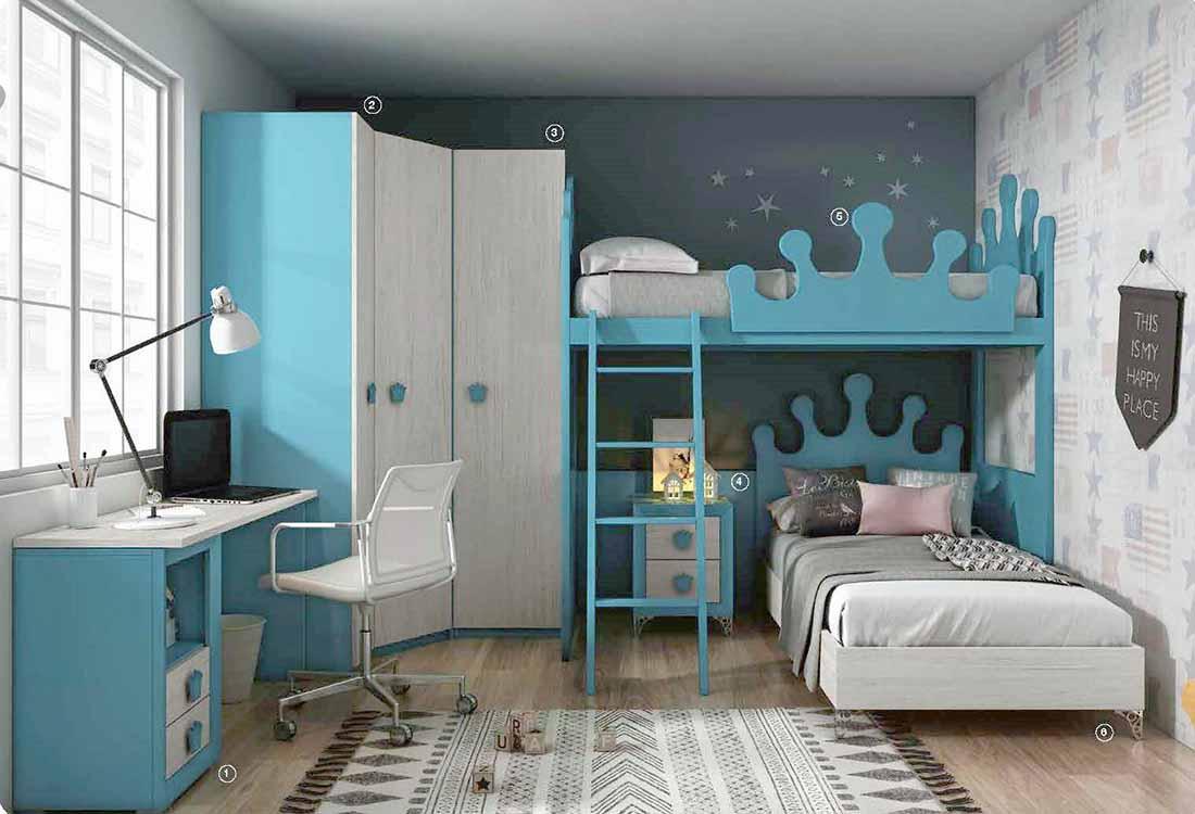 http://www.munozmuebles.net/nueva/catalogo/juveniles-macizos.html - Imagen de  muebles de color decapado