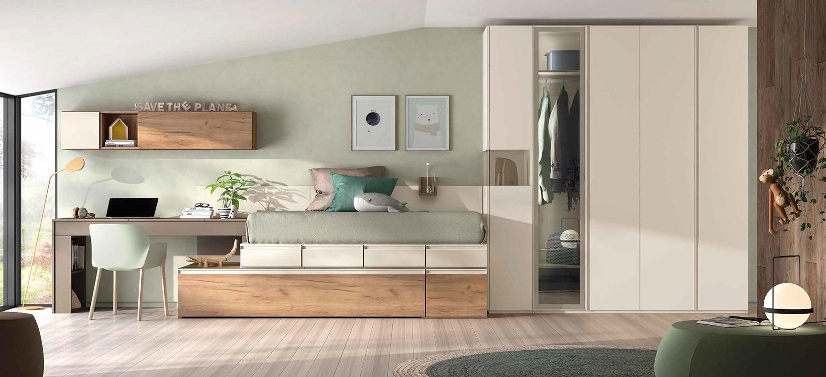 http://www.munozmuebles.net/nueva/catalogo/juveniles-modulares.html -  Espectaculares muebles de color salmón