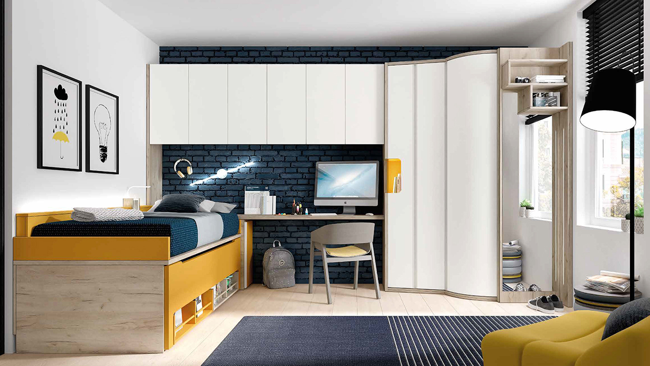 Habitaciones juveniles dos camas - Dormitorios infantiles dobles ...