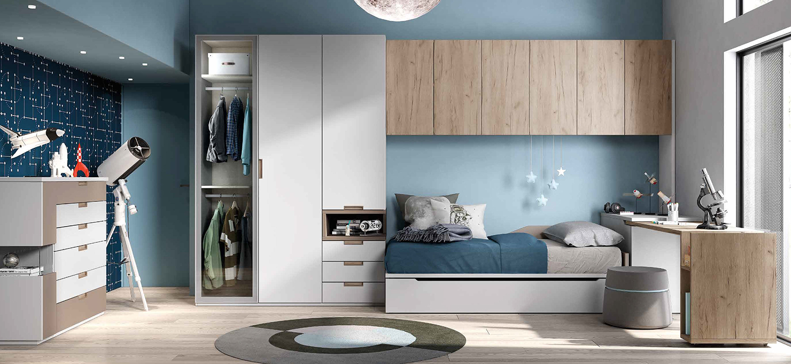 http://www.munozmuebles.net/nueva/catalogo/juveniles-modulares.html - Mueble  color claro