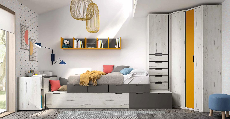 http://www.munozmuebles.net/nueva/catalogo/juveniles-modulares.html - Fotografías  de muebles funcionales