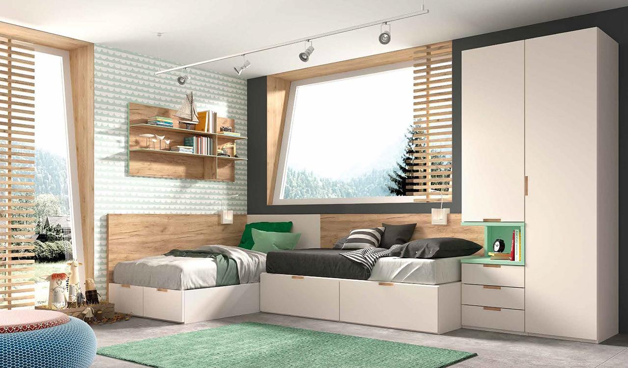 Habitaciones juveniles peque as - Muebles para habitaciones pequenas juveniles ...