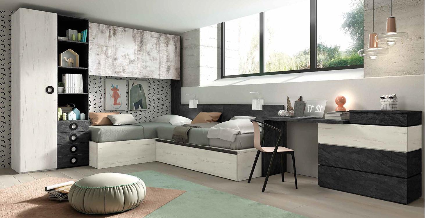 Habitaciones juveniles blancas - Habitaciones modulares juveniles ...