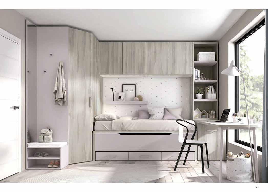 http://www.munozmuebles.net/nueva/catalogo/juveniles-modulares.html - Fotografías  con muebles de color blanco