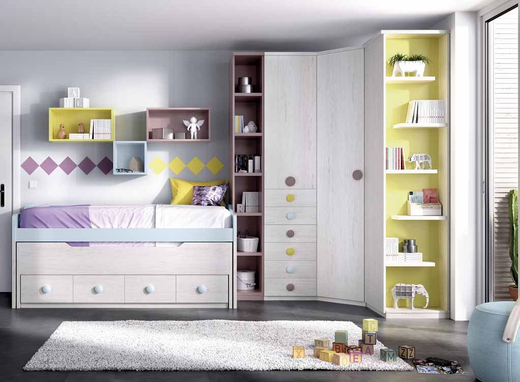 http://www.munozmuebles.net/nueva/catalogo/juveniles-macizos.html - Modelos de  muebles de color verde