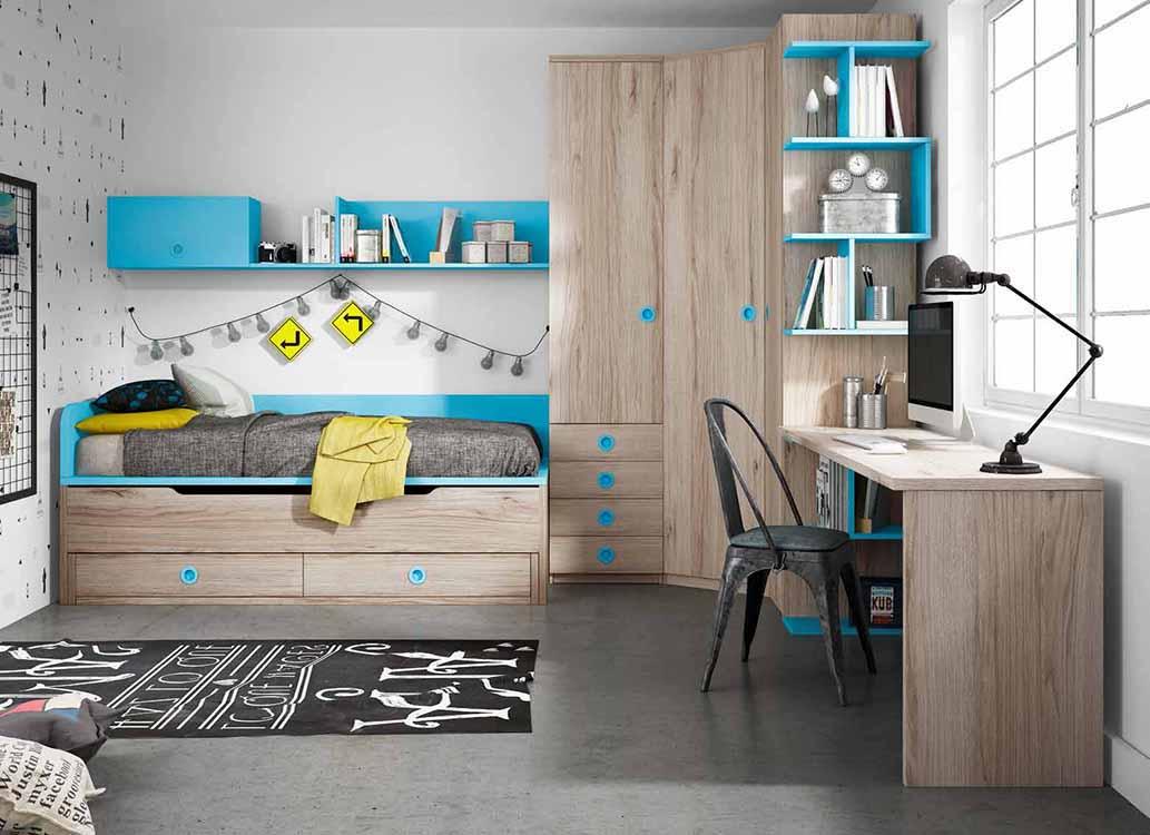 Literas infantiles originales - Habitaciones juveniles camas abatibles horizontales ...