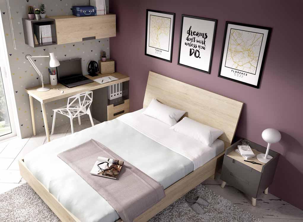 http://www.munozmuebles.net/nueva/catalogo/juveniles-macizos.html - Gama de  muebles de color violeta claro en Toledo