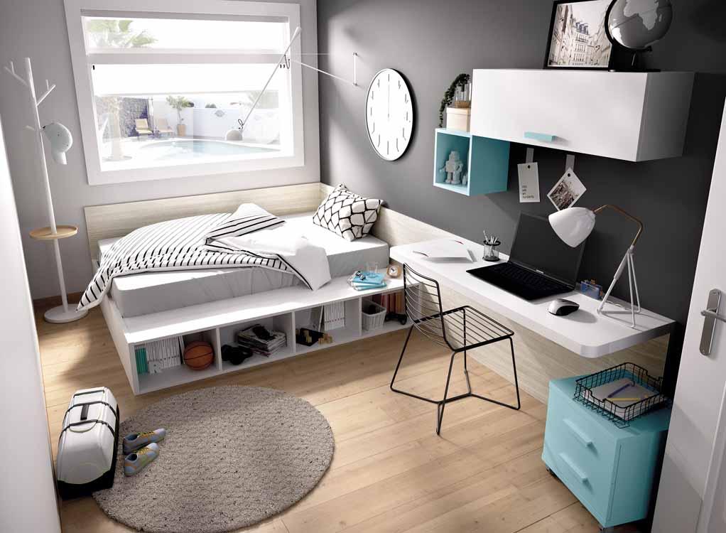 Medidas de camas para ni os - Habitaciones modulares juveniles ...