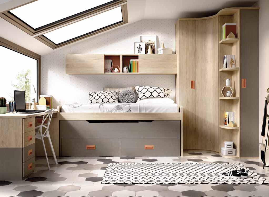 Repisas infantiles for Habitaciones modulares juveniles