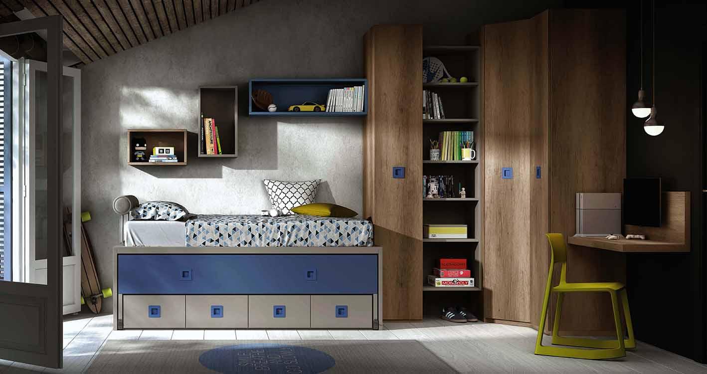 http://www.munozmuebles.net/nueva/catalogo/juveniles-modulares.html - Fotografía  con muebles de madera de arce