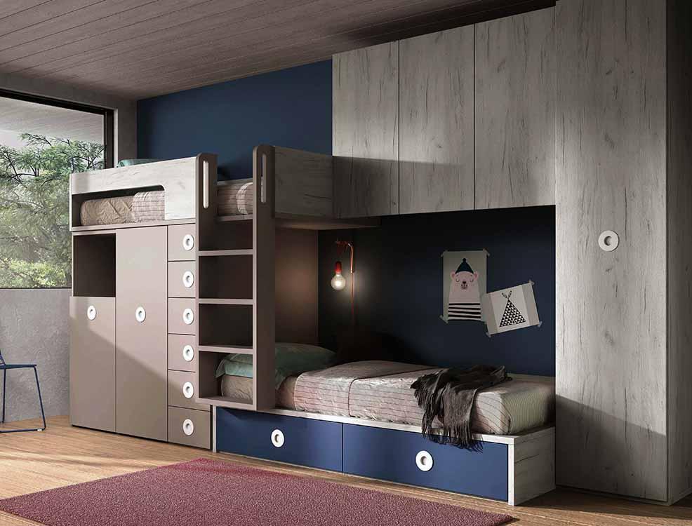 http://www.munozmuebles.net/nueva/catalogo/juveniles-modulares.html - Fotografía  de muebles de color topacio