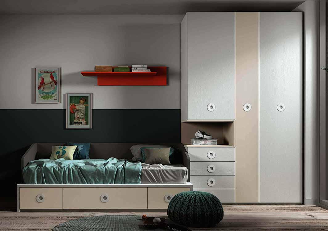 http://www.munozmuebles.net/nueva/catalogo/juveniles-modulares.html - Conjuntos  de muebles de madera de peral