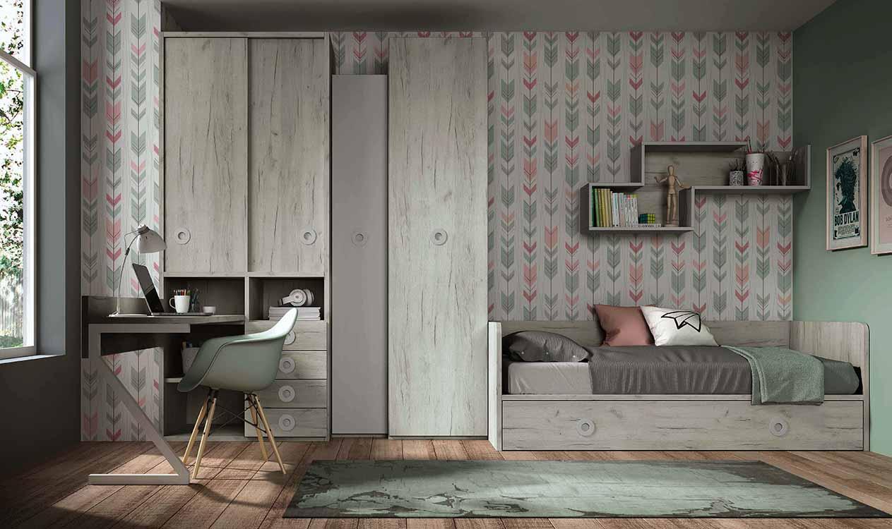 http://www.munozmuebles.net/nueva/catalogo/juveniles-modulares.html - Imágenes  de muebles modulares con cubreradiador