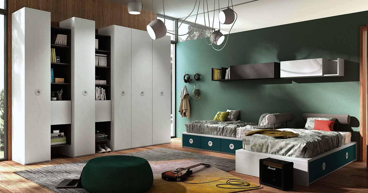 http://www.munozmuebles.net/nueva/catalogo/juveniles-modulares.html - Foto con  muebles marrones