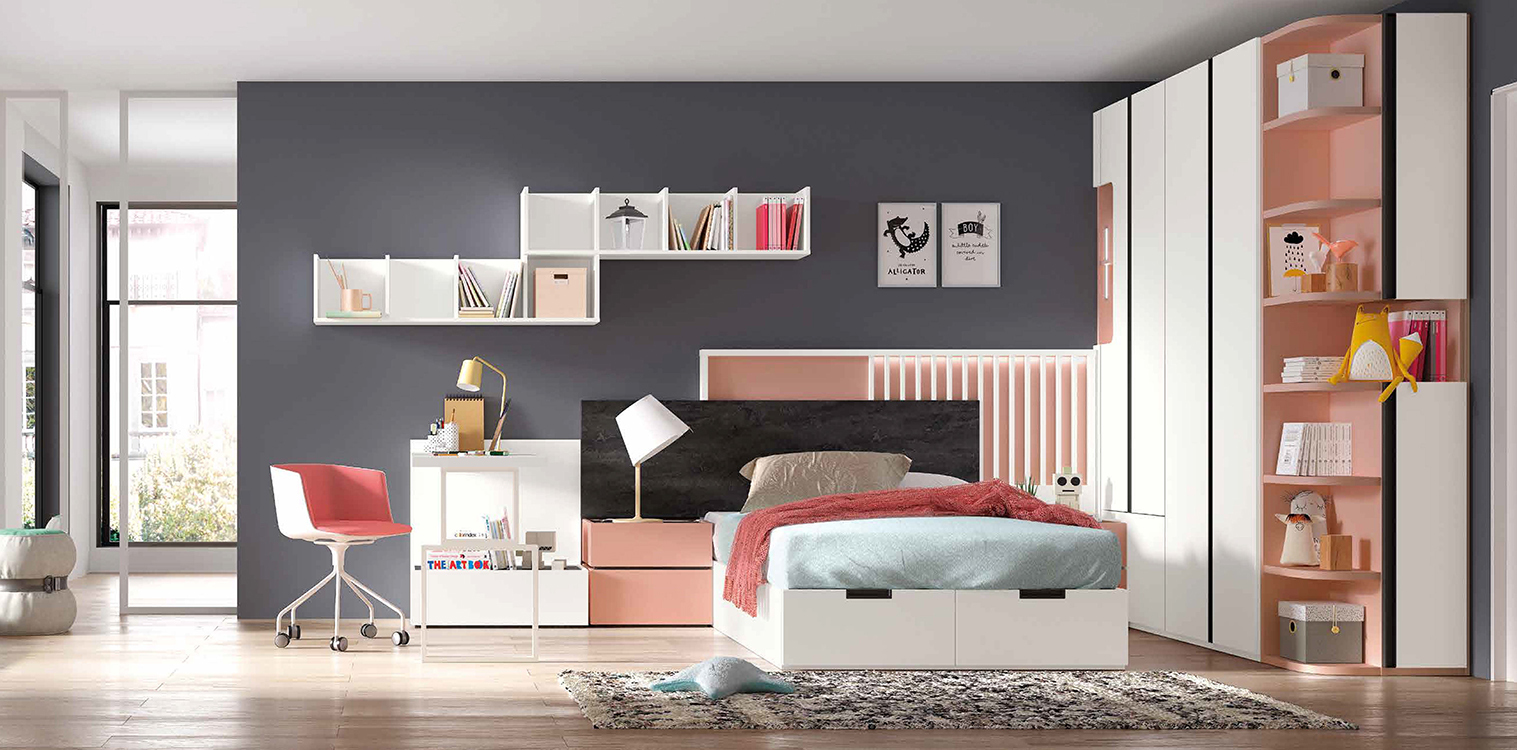 http://www.munozmuebles.net/nueva/catalogo/juveniles-modulares.html - Foto con  muebles redondos