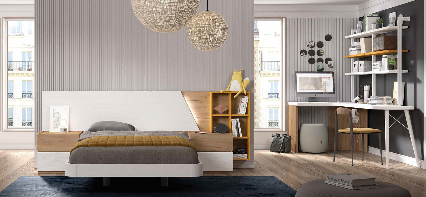 http://www.munozmuebles.net/nueva/catalogo/juveniles-modulares.html - Fotografías  con muebles de madera de acacia en Madrid sur