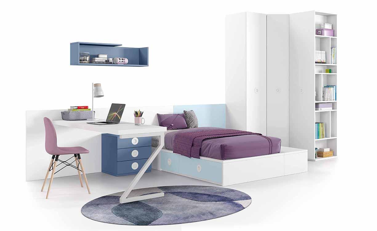 Muebles Decapados Baratos ~ Amueblar Habitacion Juvenil Pequeña