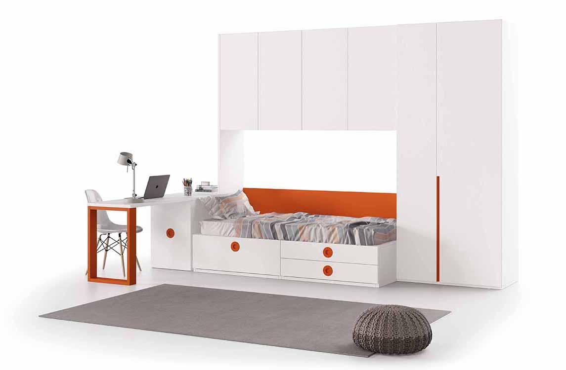 Dormitorios juveniles para habitaciones peque as - Muebles para habitaciones pequenas juveniles ...