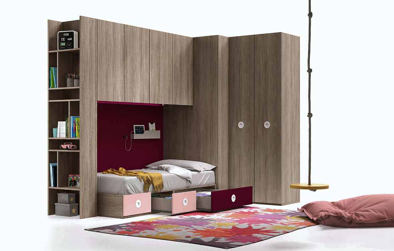 Dormitorios juveniles para ni as - Estanterias para dormitorios ...
