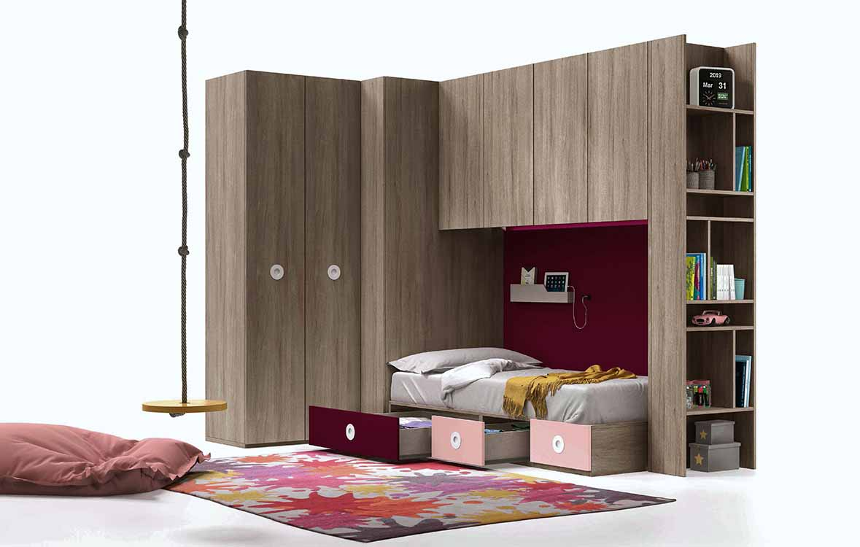 http://www.munozmuebles.net/nueva/catalogo/juveniles-macizos.html - Mueble de  modelo color malva