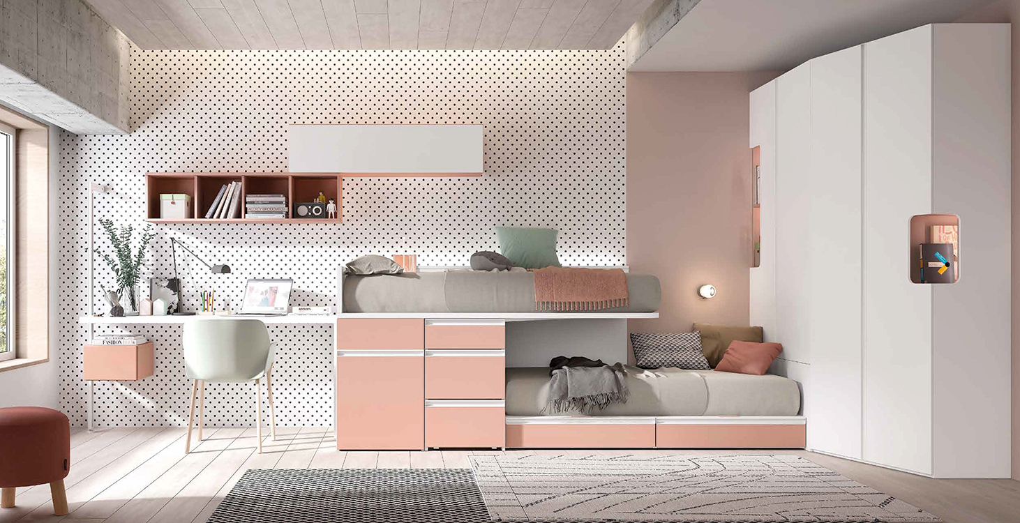 http://www.munozmuebles.net/nueva/catalogo/juveniles-macizos.html - Fotografía de  muebles de color claro en Toledo