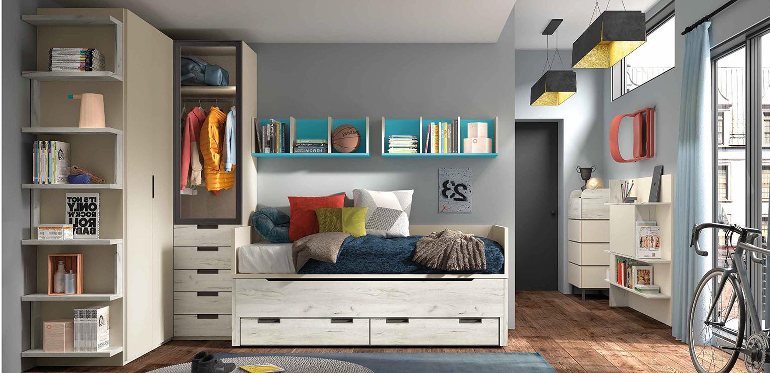 Literas rusticas for Roperos para dormitorios juveniles