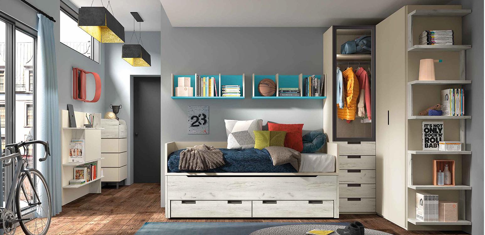 Camas dobles modernas cama capitn dormitorio infantil for Camas infantiles diseno moderno